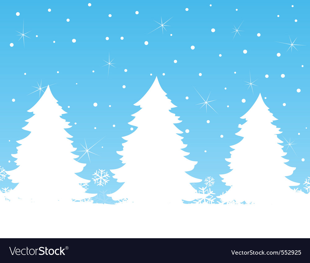 Fur trees vector | Price: 1 Credit (USD $1)