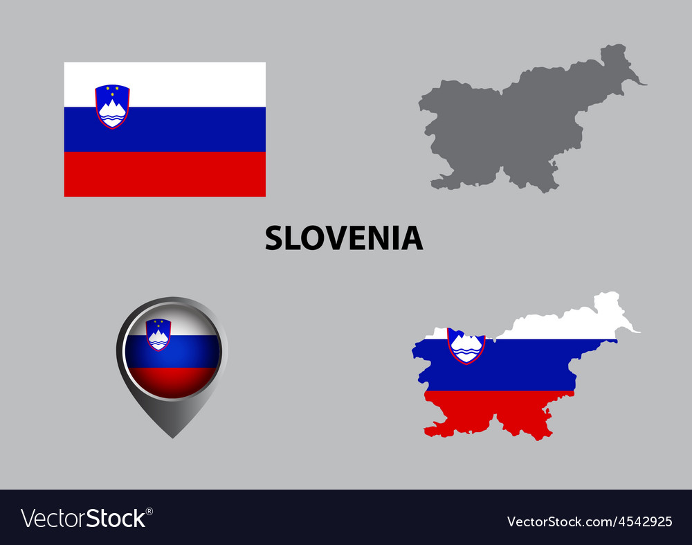 Map of slovenia and symbol vector | Price: 1 Credit (USD $1)