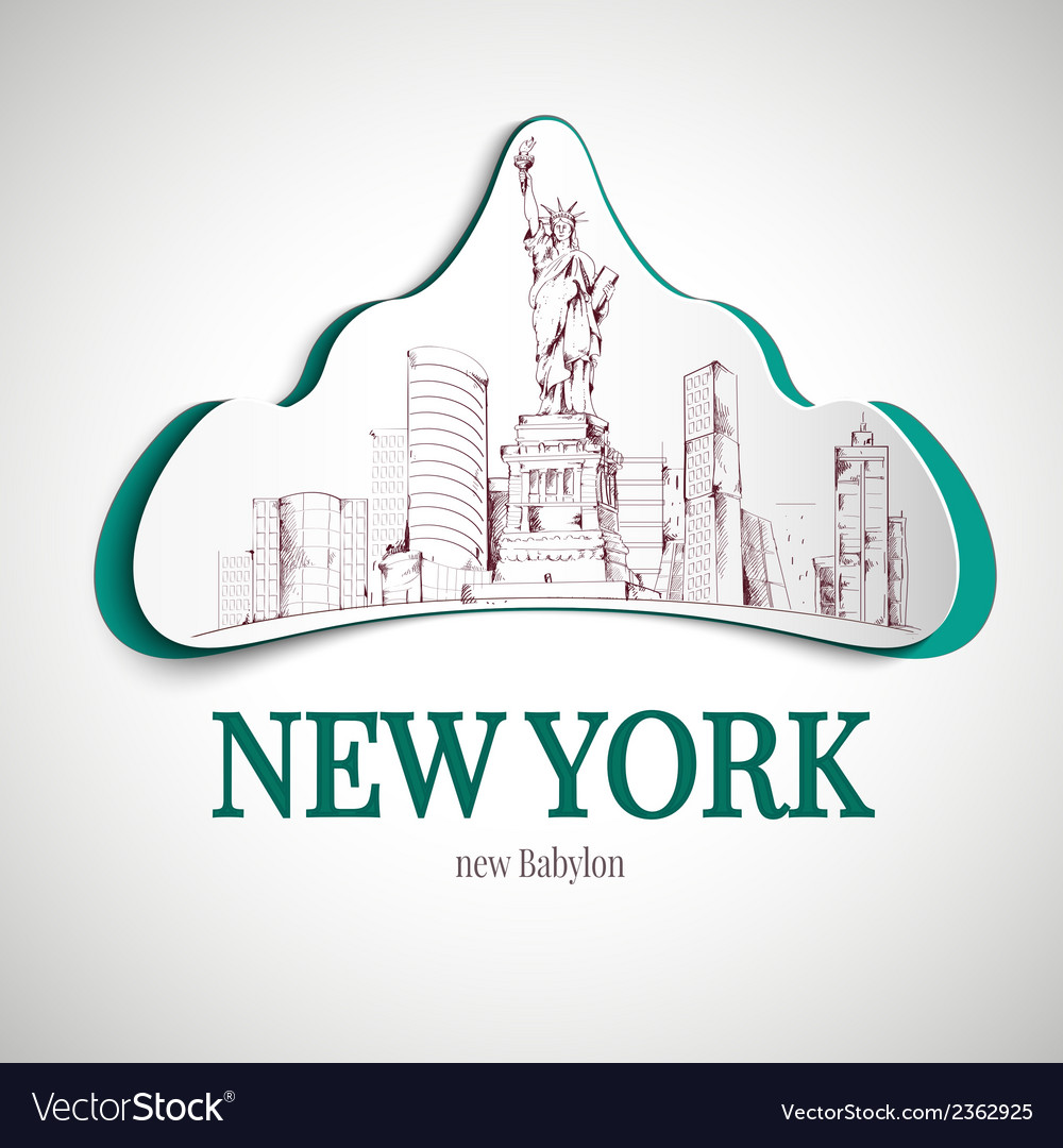 New york city emblem vector | Price: 1 Credit (USD $1)