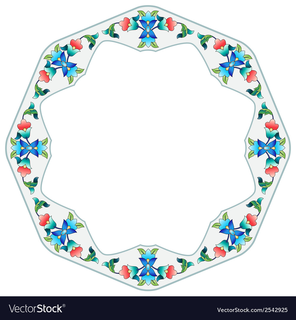 Ottoman motifs design series sixty four vector | Price: 1 Credit (USD $1)