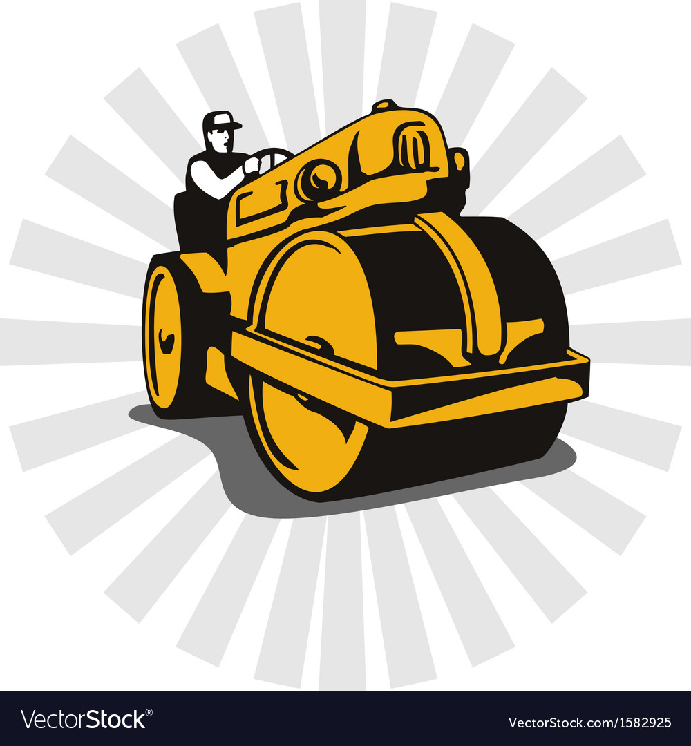 Road roller compactor vector | Price: 1 Credit (USD $1)
