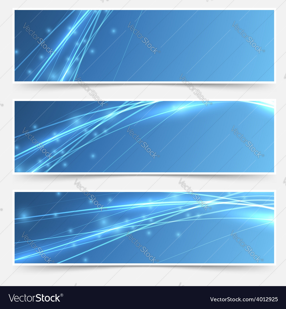Speed swoosh electric wave lines header set vector | Price: 1 Credit (USD $1)