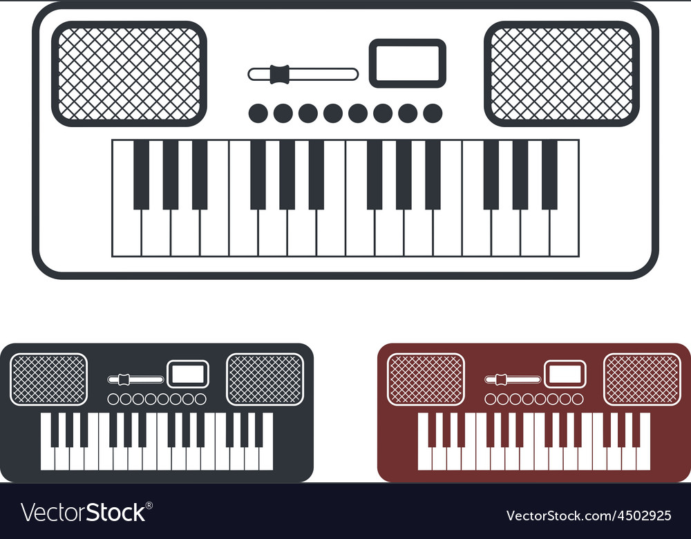 Synthesizer icons set vector   Price: 1 Credit (USD $1)