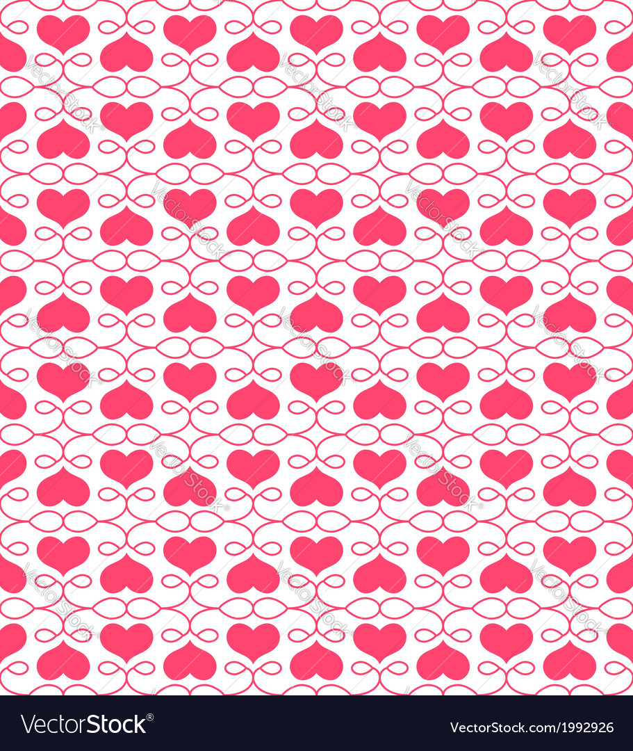Beautiful seamless pattern with hearts vector | Price: 1 Credit (USD $1)