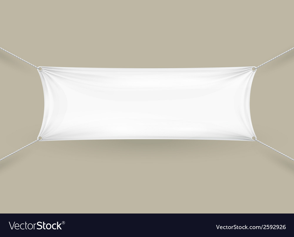 Blank white rectangular horizontal banner vector | Price: 1 Credit (USD $1)