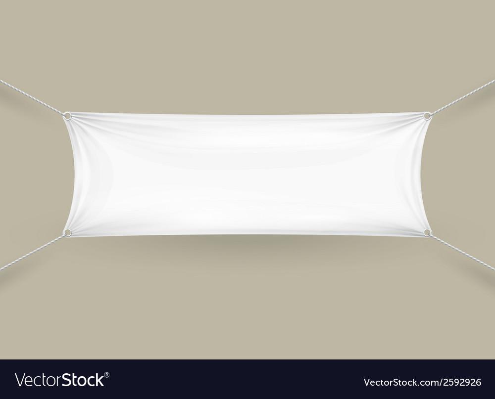 Blank white rectangular horizontal banner vector | Price: 1 Credit (USD $1)