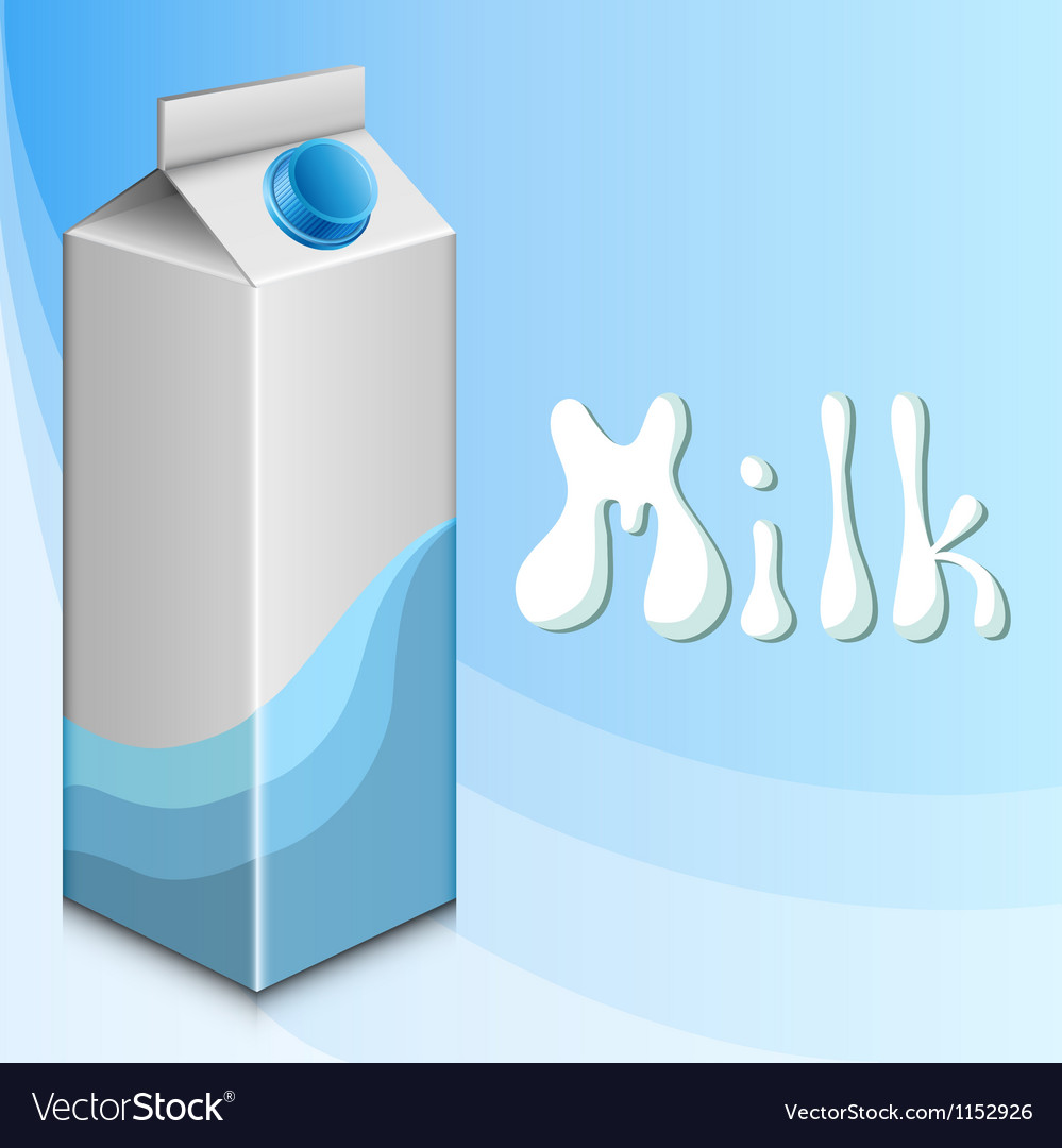 Blue background with milk carton vector | Price: 1 Credit (USD $1)