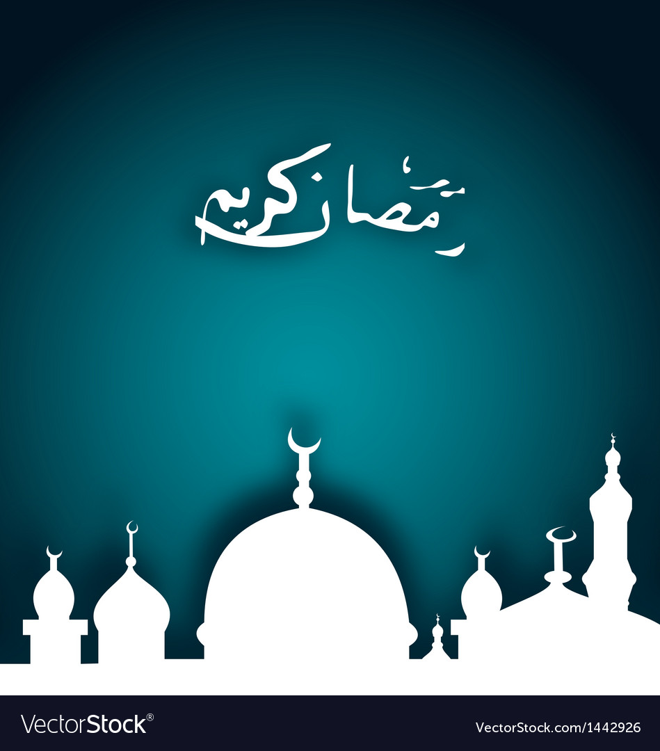 Elegant religious background with beautiful mosque vector | Price: 1 Credit (USD $1)