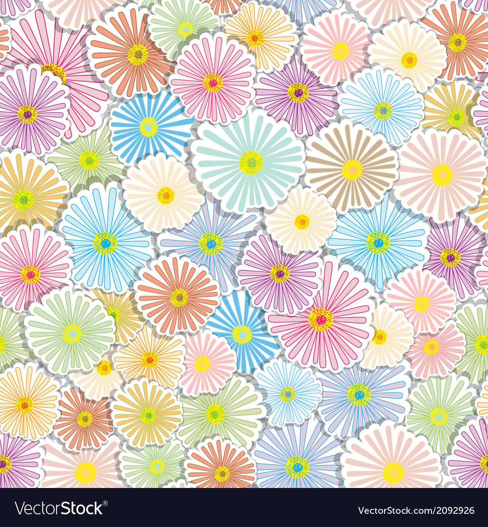 Floral seamless background vector | Price: 1 Credit (USD $1)