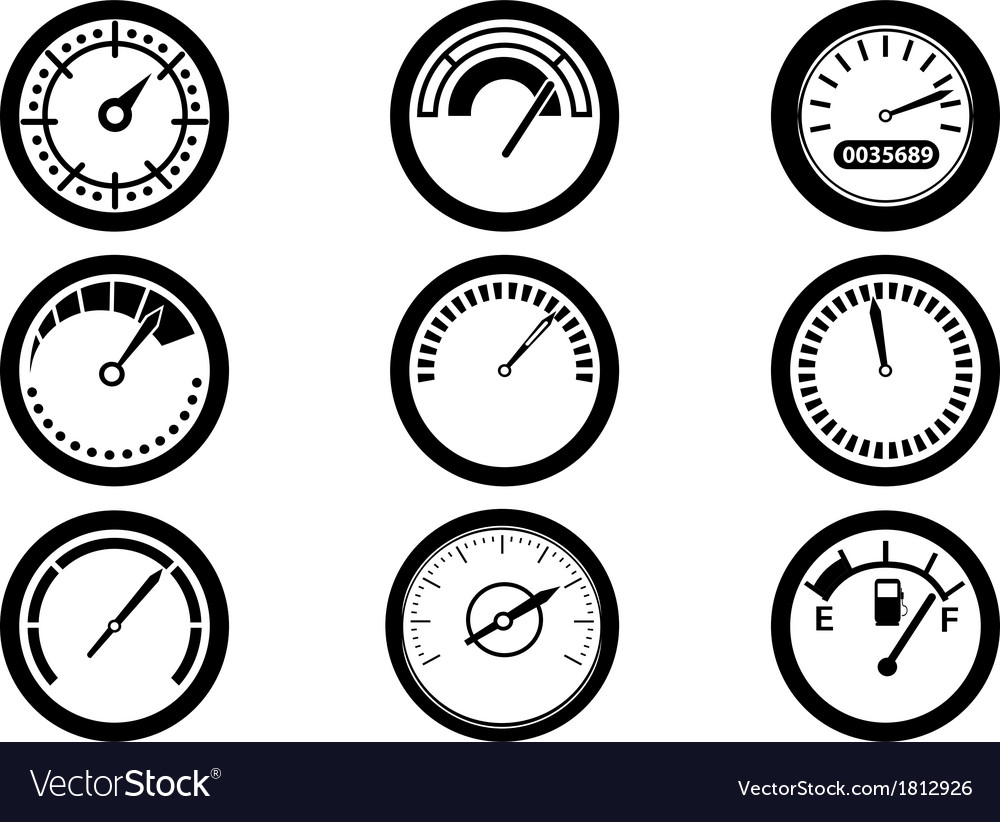 Gauge icons vector | Price: 1 Credit (USD $1)