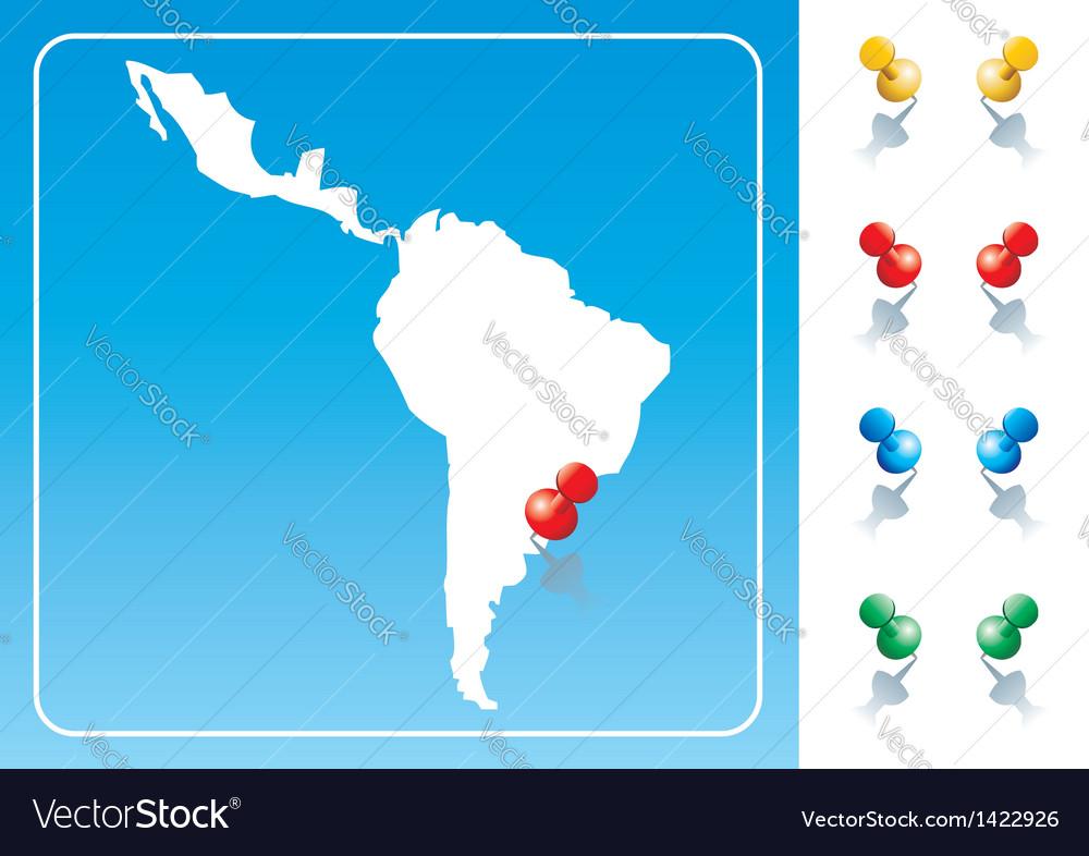 Latin america map vector | Price: 1 Credit (USD $1)