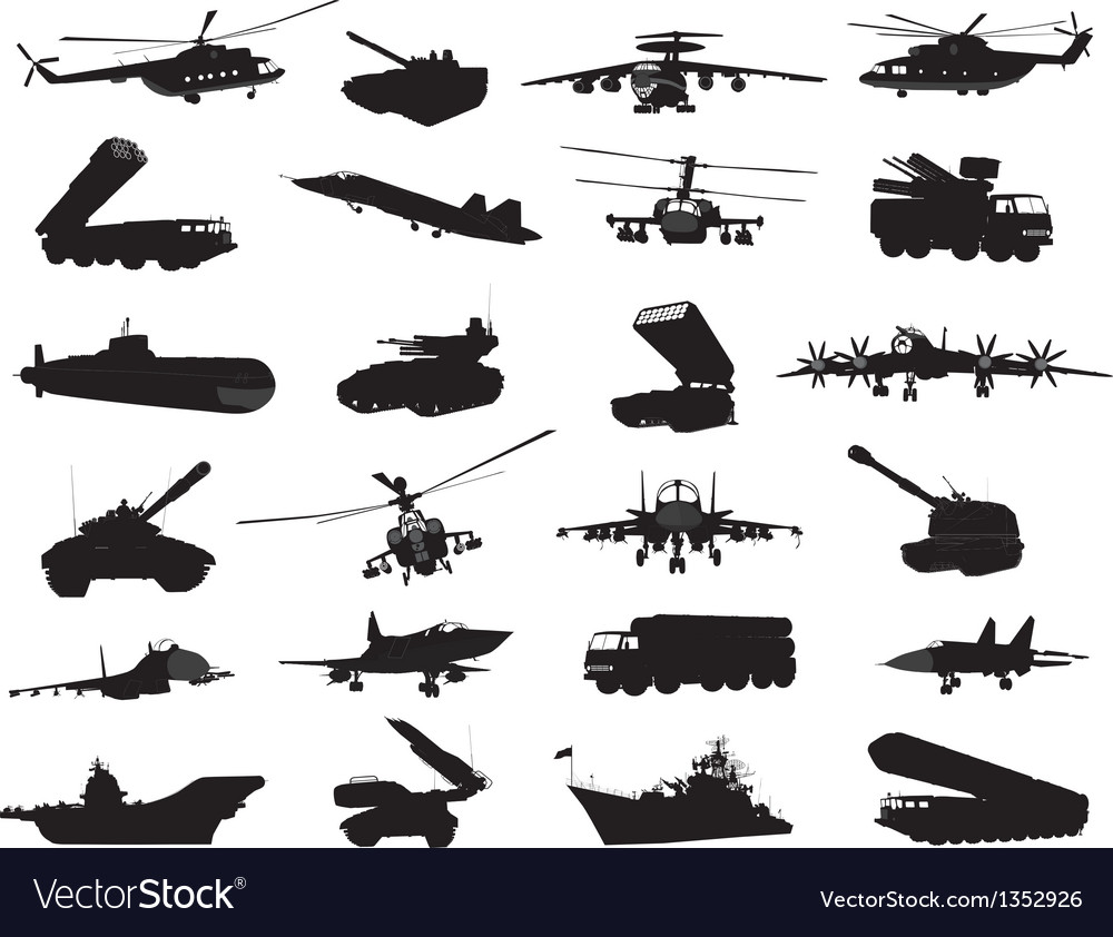 Military set vector | Price: 3 Credit (USD $3)