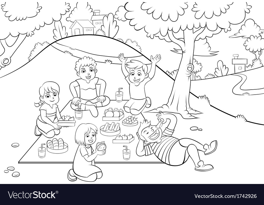 Picnic vector | Price: 1 Credit (USD $1)