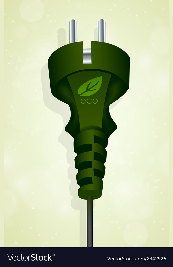 Power eco plug vector | Price: 1 Credit (USD $1)