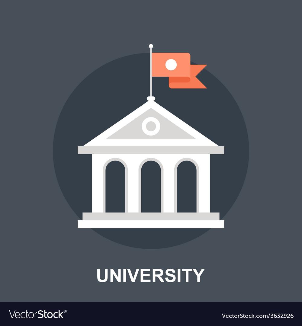 University vector | Price: 1 Credit (USD $1)