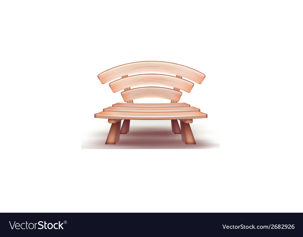 Wooden bench vector | Price: 1 Credit (USD $1)