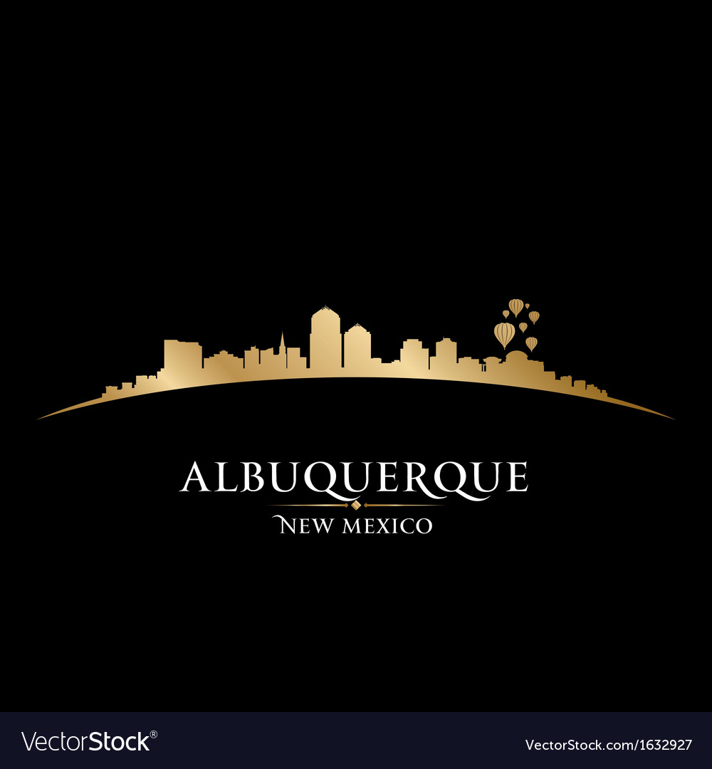 Albuquerque new mexico city skyline silhouette vector | Price: 1 Credit (USD $1)