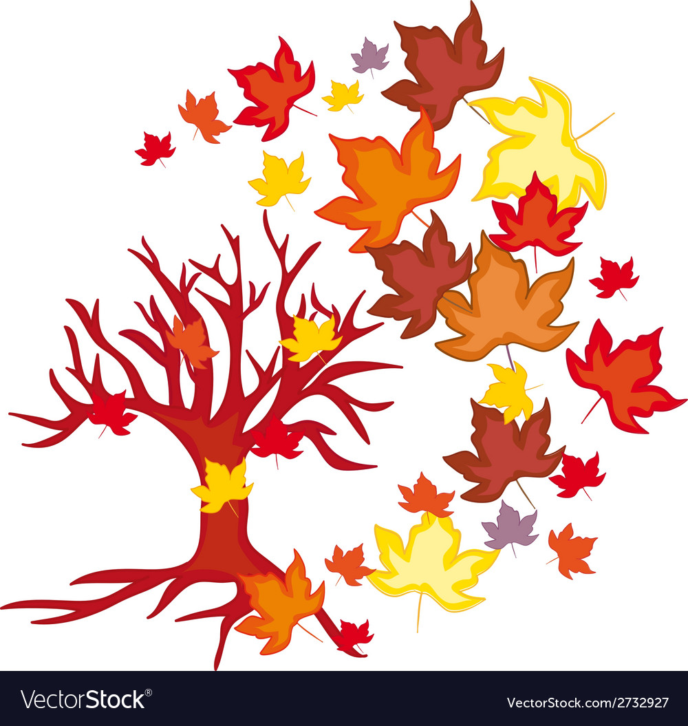 Autumn leaves fall vector | Price: 1 Credit (USD $1)