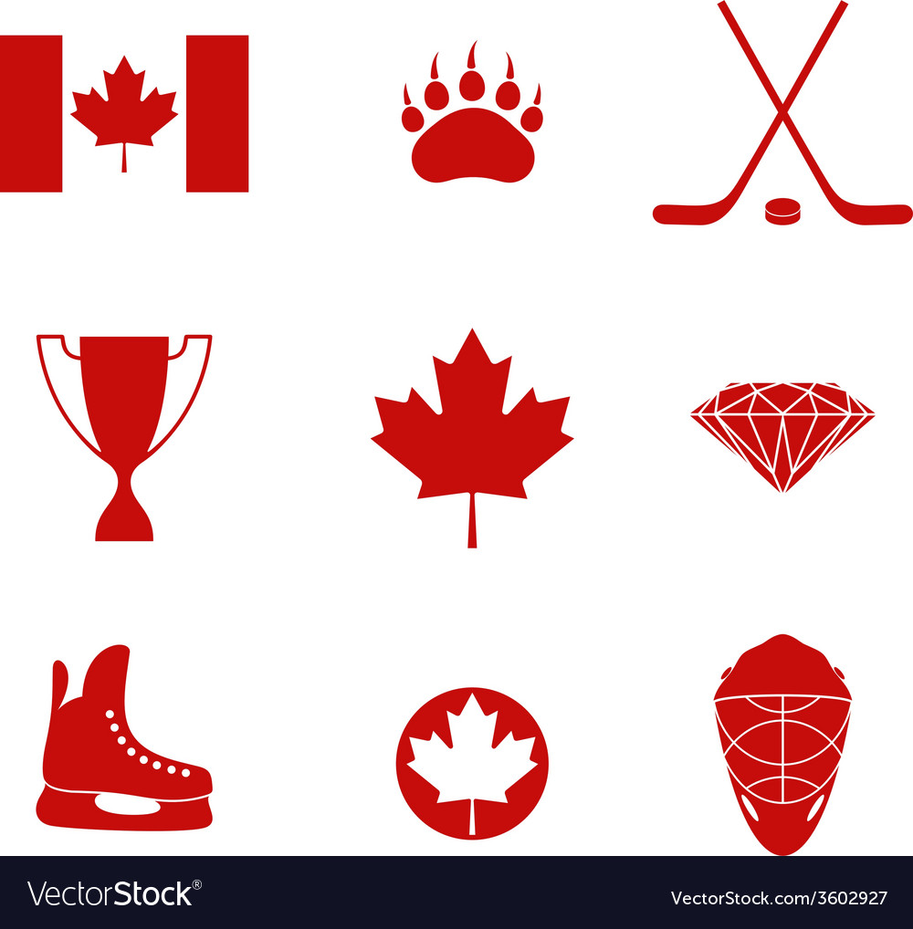 Canada icon set vector | Price: 1 Credit (USD $1)