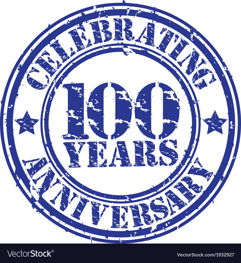 Celebrating 100 years anniversary grunge rubber s vector | Price: 1 Credit (USD $1)