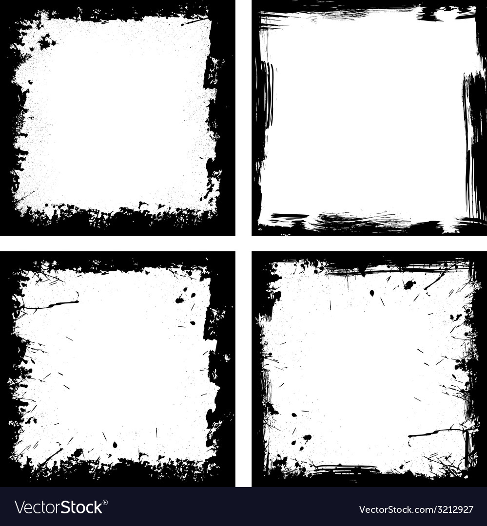 Four grunge frames vector | Price: 1 Credit (USD $1)