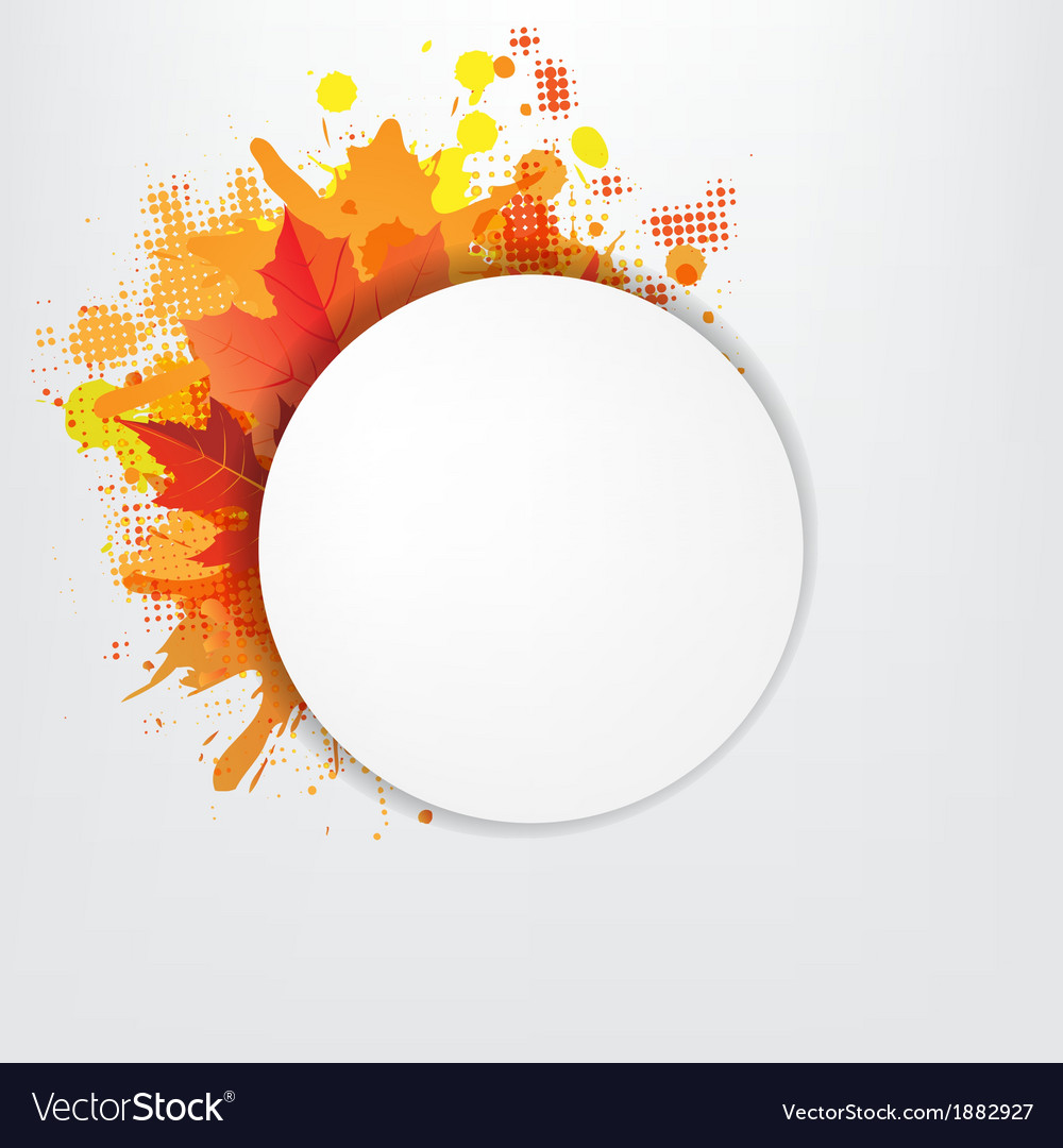 Grunge background with orange speech bubble vector | Price: 1 Credit (USD $1)