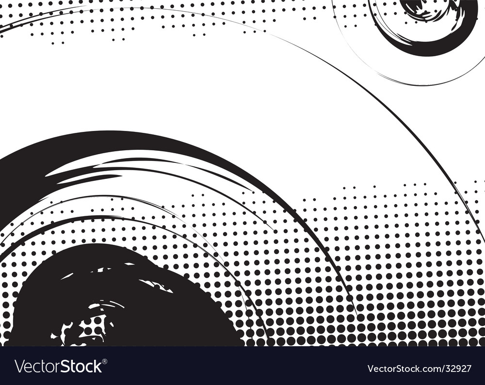 Halftone swirl background vector | Price: 1 Credit (USD $1)