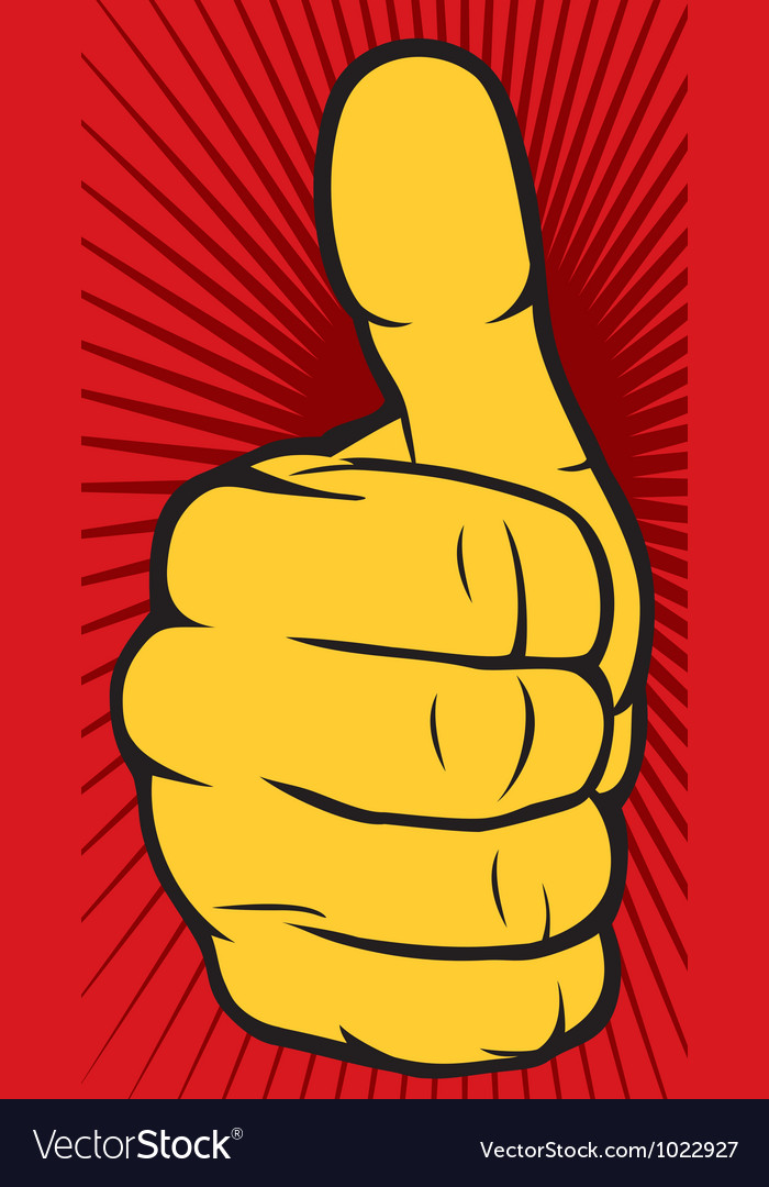 Hand showing thumbs up vector | Price: 1 Credit (USD $1)