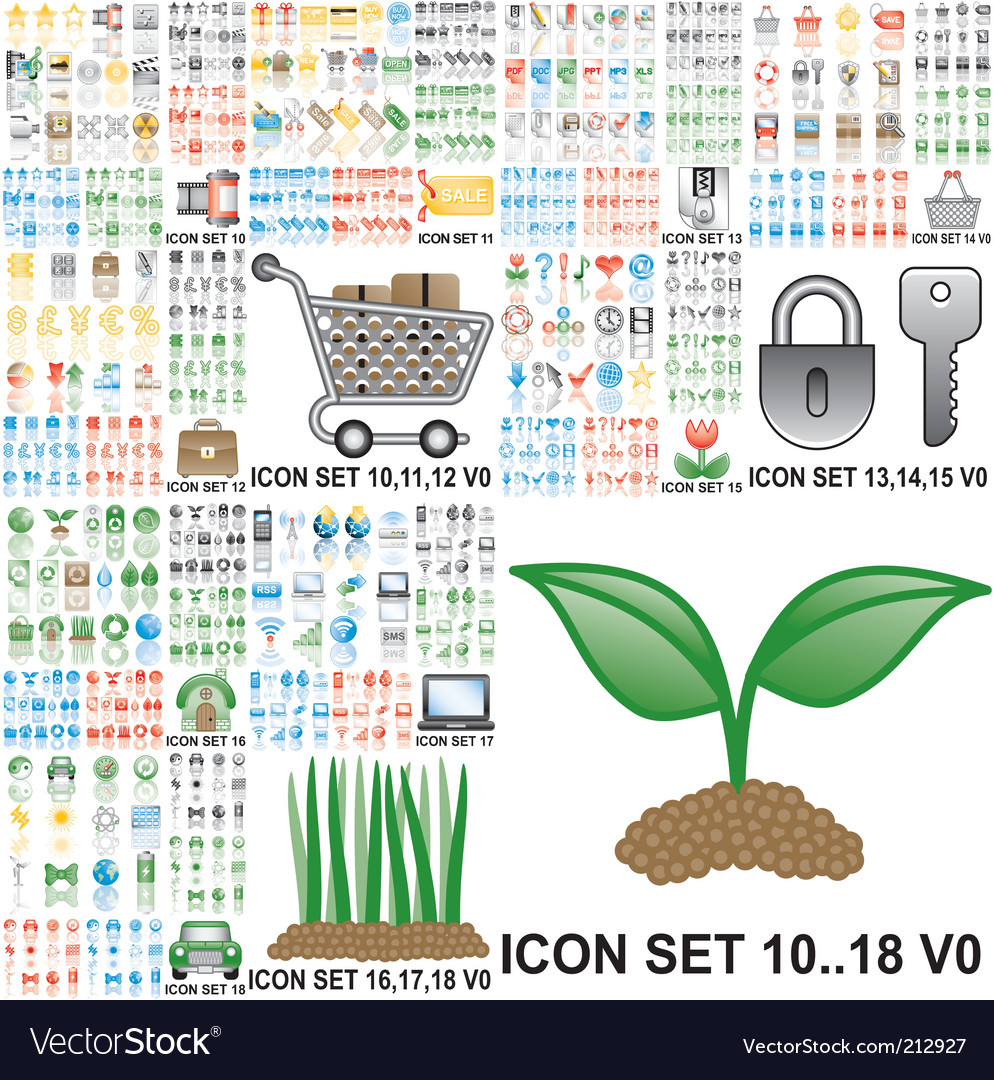 Internet and general icons vector | Price: 5 Credit (USD $5)