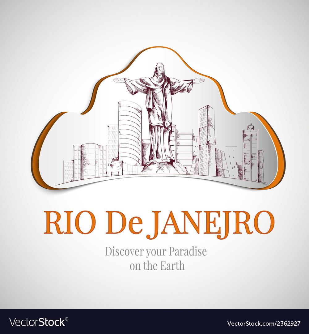 Rio de janeiro city emblem vector | Price: 1 Credit (USD $1)