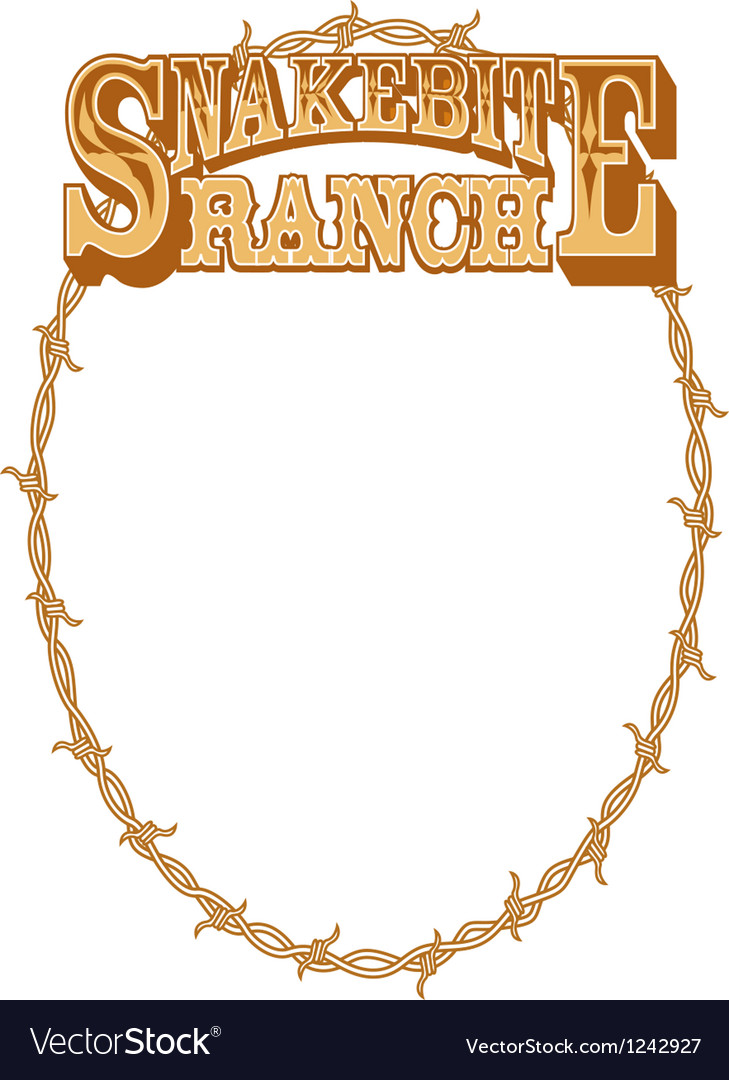 Snakebite ranch frame vector | Price: 1 Credit (USD $1)