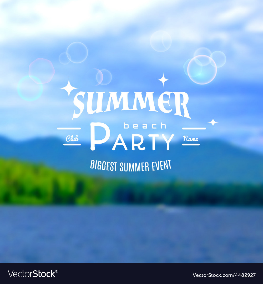 Summer party realistic badge eps10 vector | Price: 1 Credit (USD $1)
