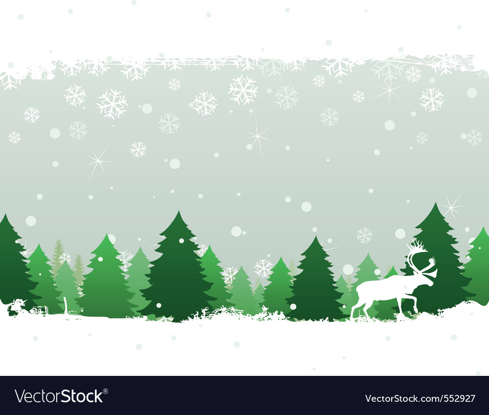 Winter landscape vector | Price: 1 Credit (USD $1)