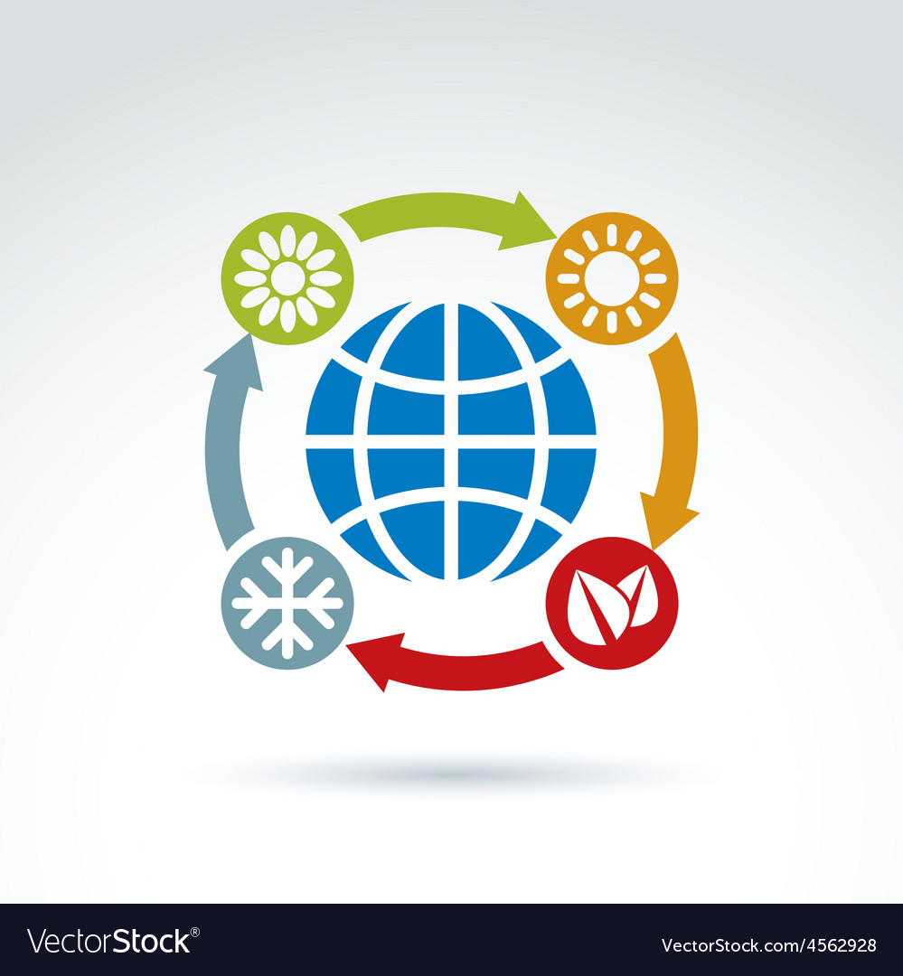 Connected circles with season pictograms placed vector   Price: 1 Credit (USD $1)