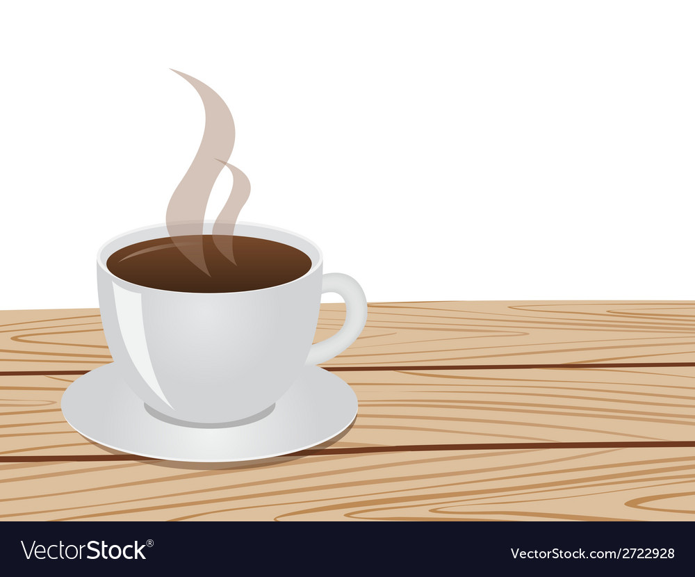 Cup of coffee table white 01 vector | Price: 1 Credit (USD $1)