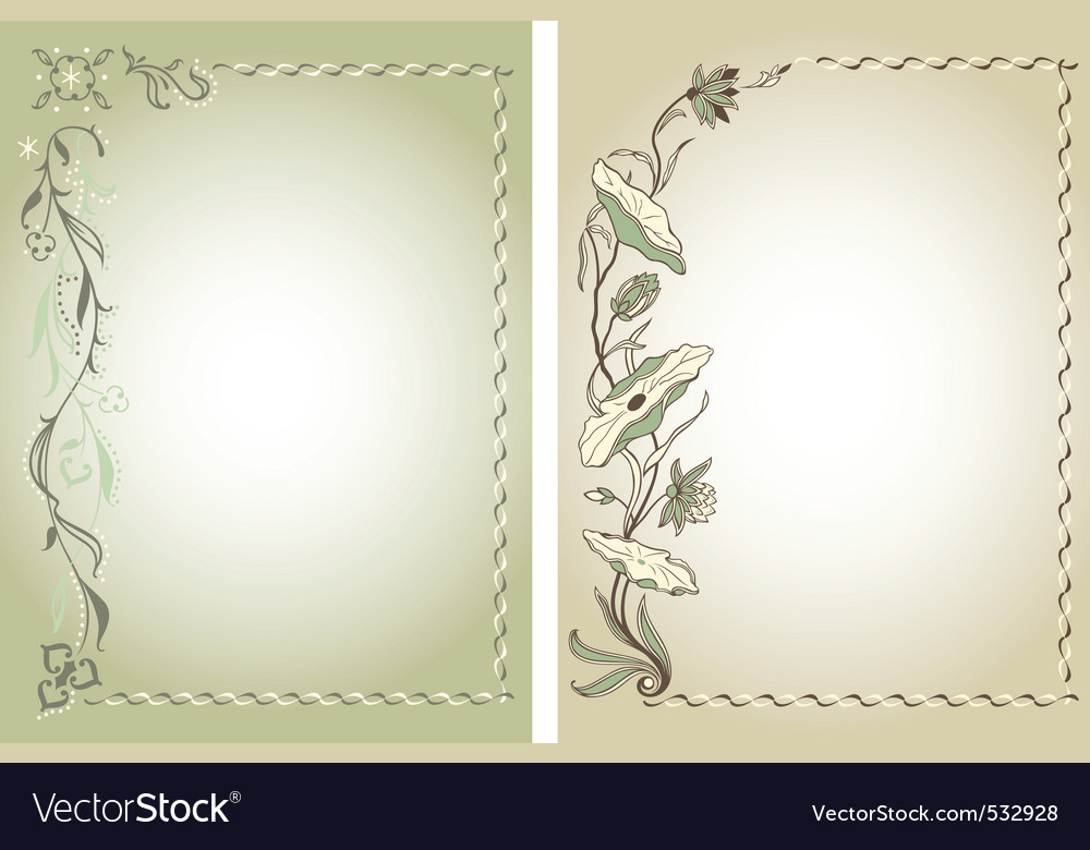 Floral color backgrounds vector | Price: 1 Credit (USD $1)