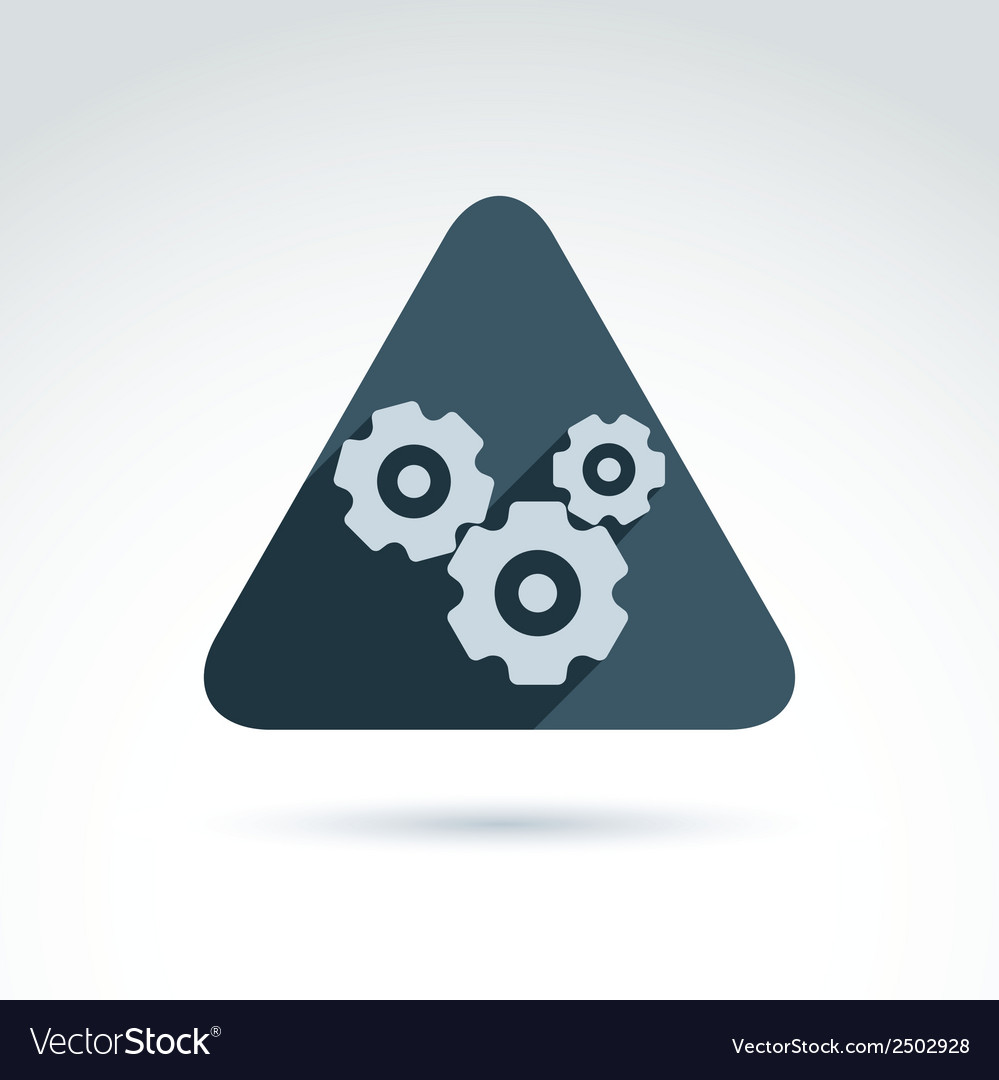 Gears and cogs system theme icon conceptual vector | Price: 1 Credit (USD $1)