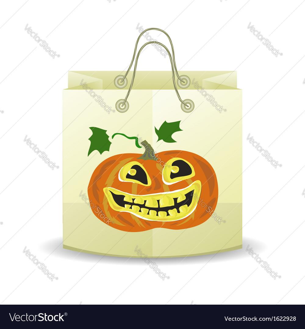 Halloween paper bag vector | Price: 1 Credit (USD $1)