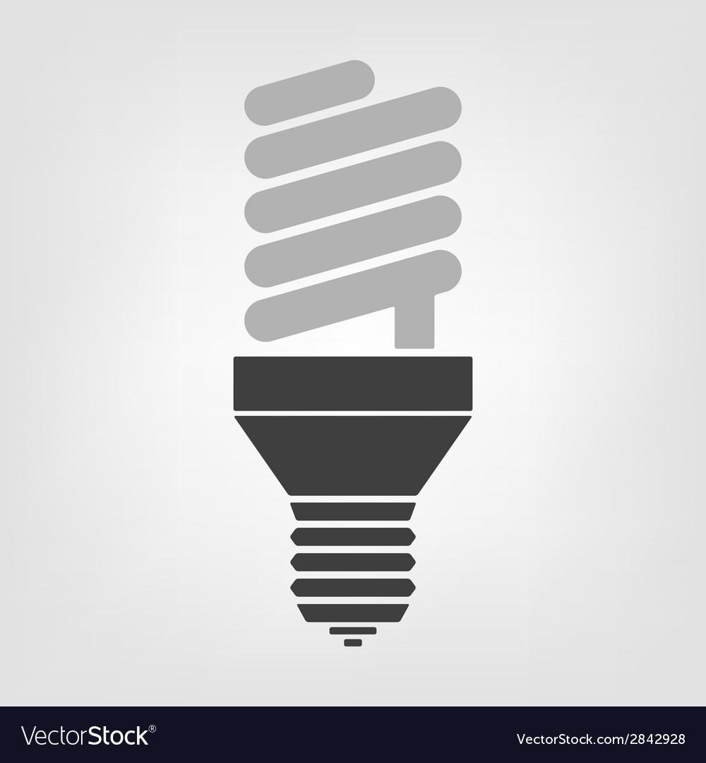 Light bulb energy saving lamp vector | Price: 1 Credit (USD $1)