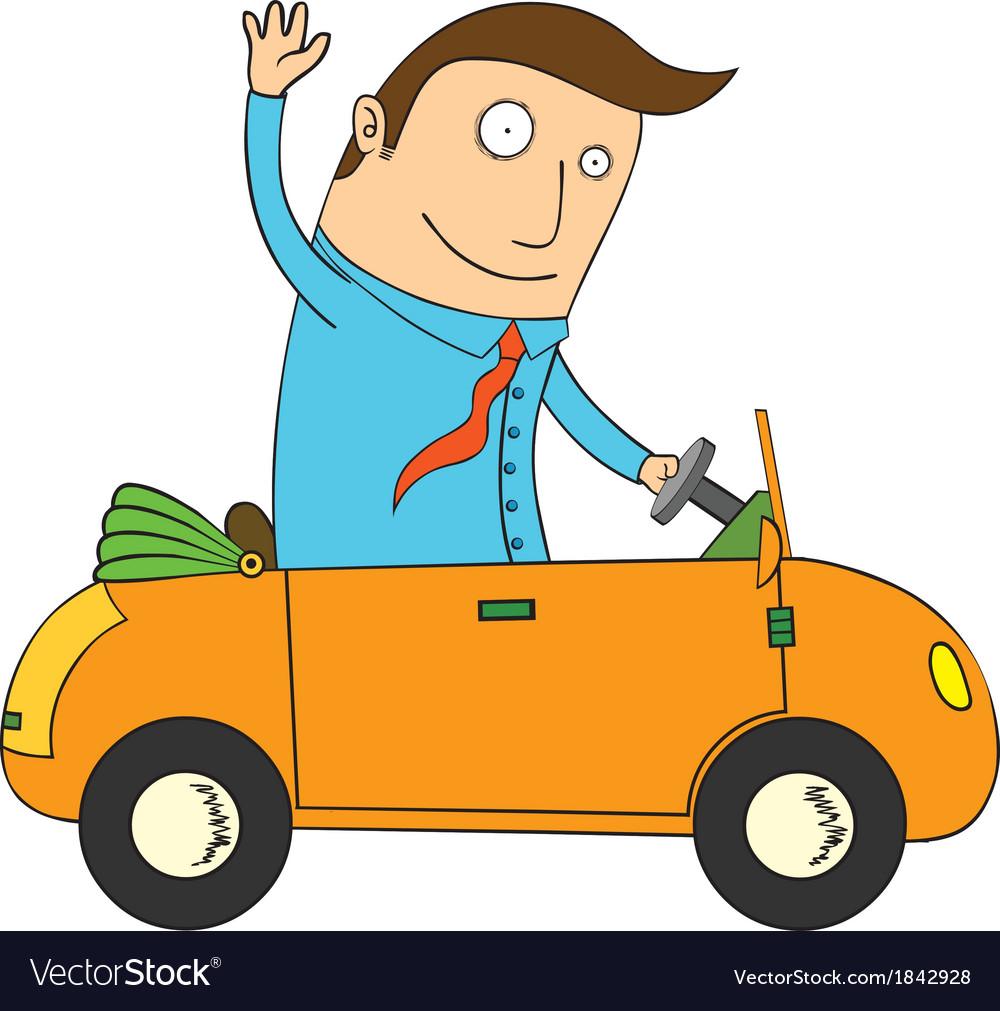 Man in car vector | Price: 1 Credit (USD $1)