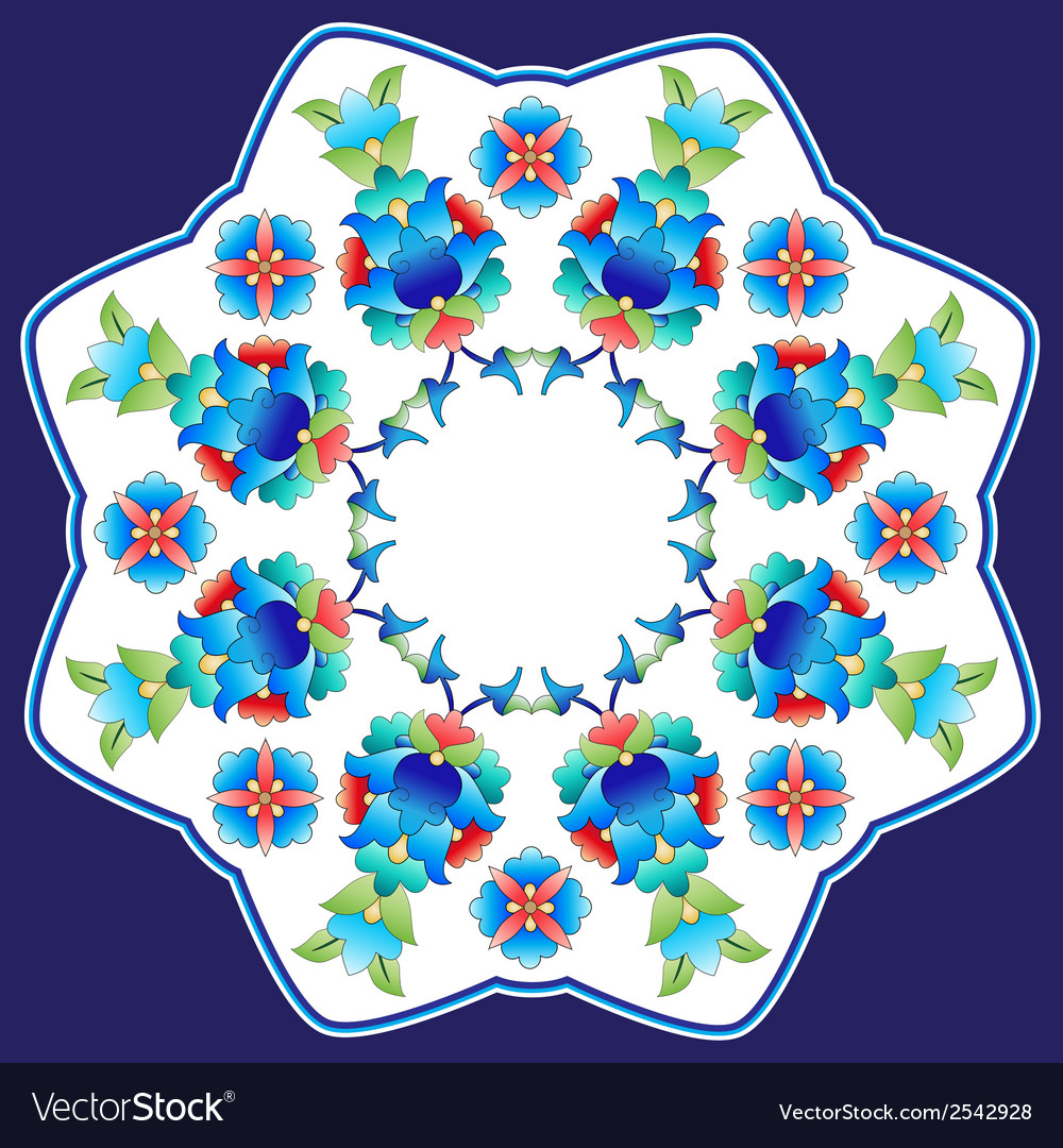 Ottoman motifs design series sixty six vector | Price: 1 Credit (USD $1)