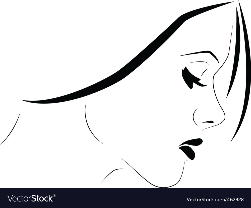 Sensitive woman vector | Price: 1 Credit (USD $1)