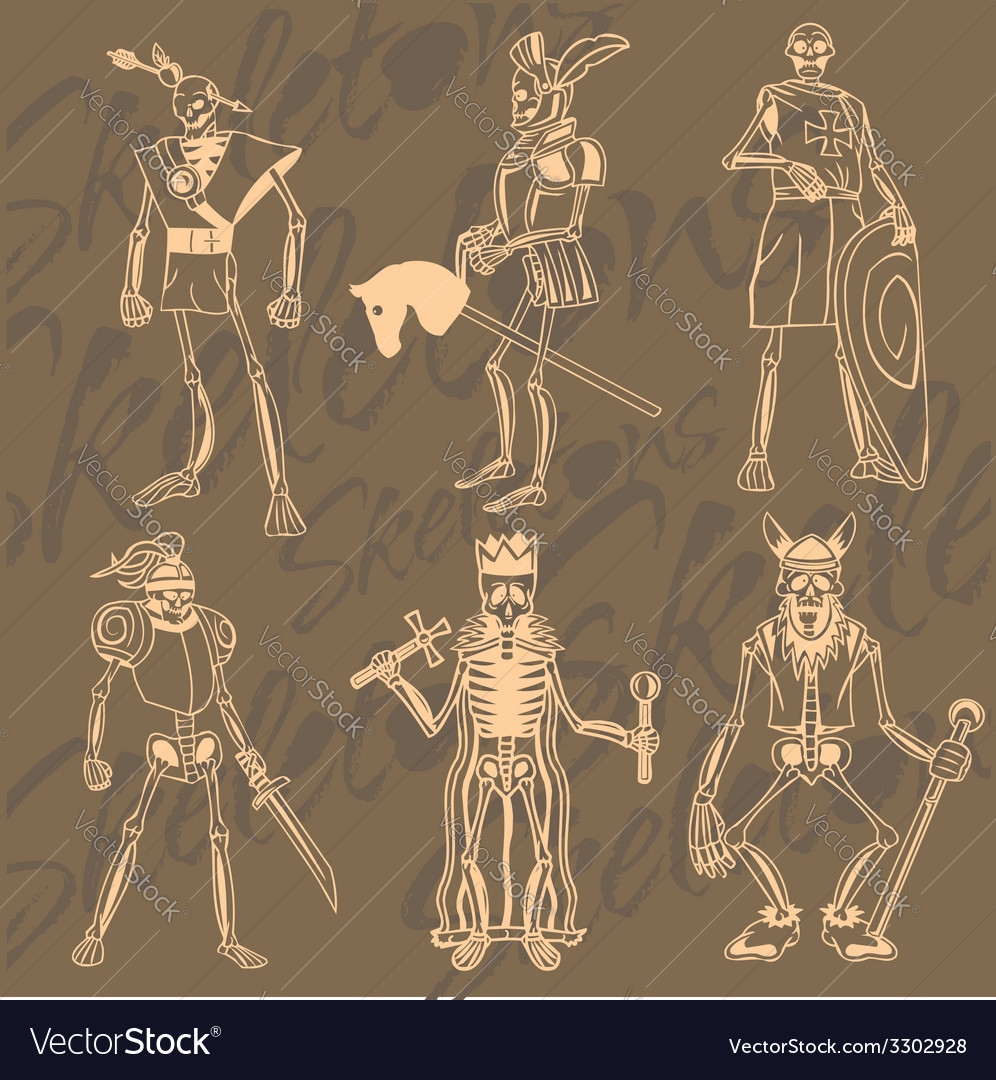Skeletons - knight vinyl-ready vector | Price: 1 Credit (USD $1)