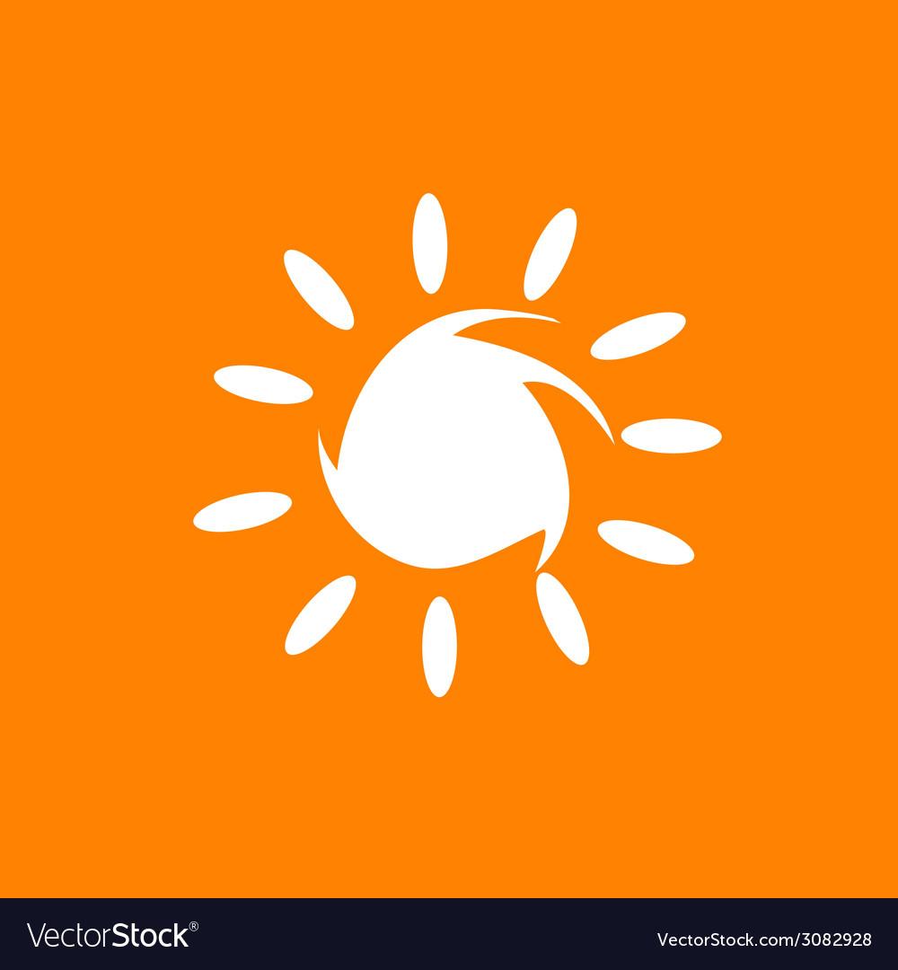 Sun in white color vector   Price: 1 Credit (USD $1)