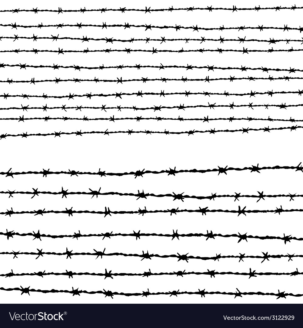 Barbed wire horizontally vector | Price: 1 Credit (USD $1)