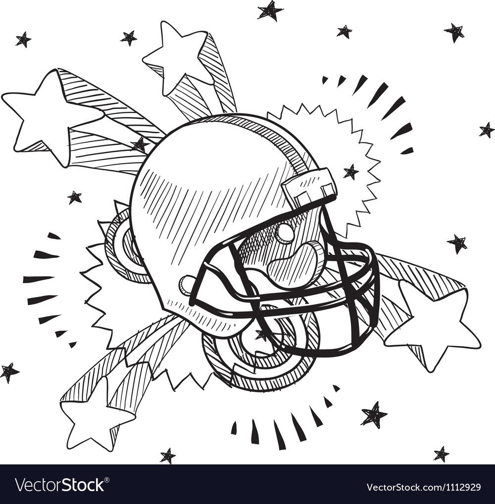 Doodle pop football helmet vector | Price: 1 Credit (USD $1)
