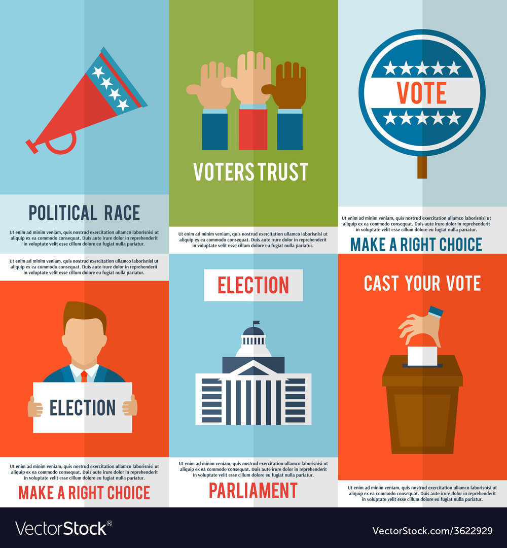 Election poster set vector | Price: 1 Credit (USD $1)