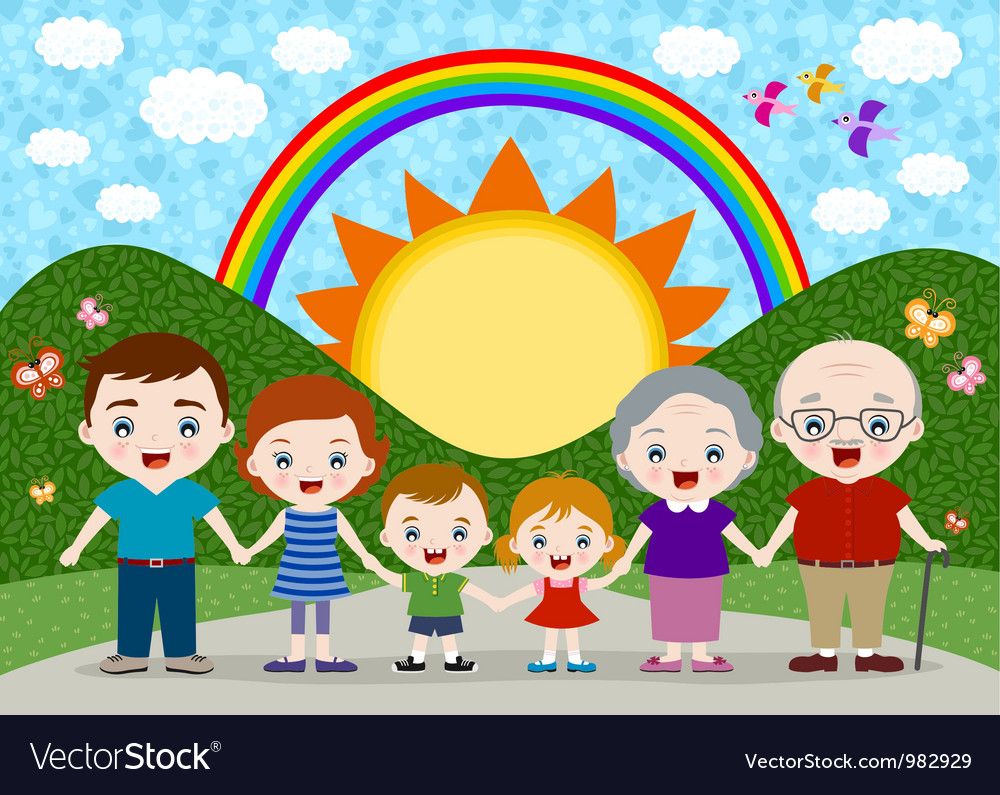 Family portrait vector | Price: 3 Credit (USD $3)