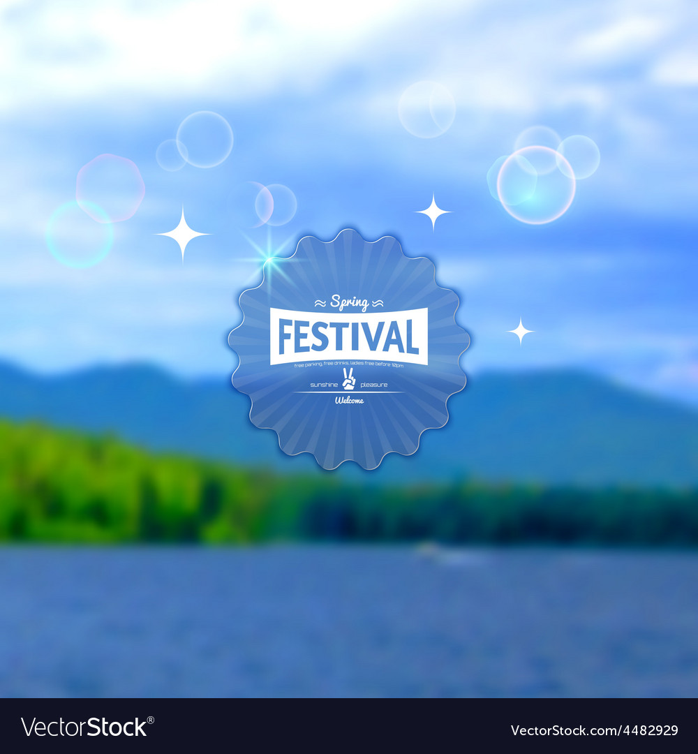 Festival summer realistic badge eps10 vector | Price: 1 Credit (USD $1)