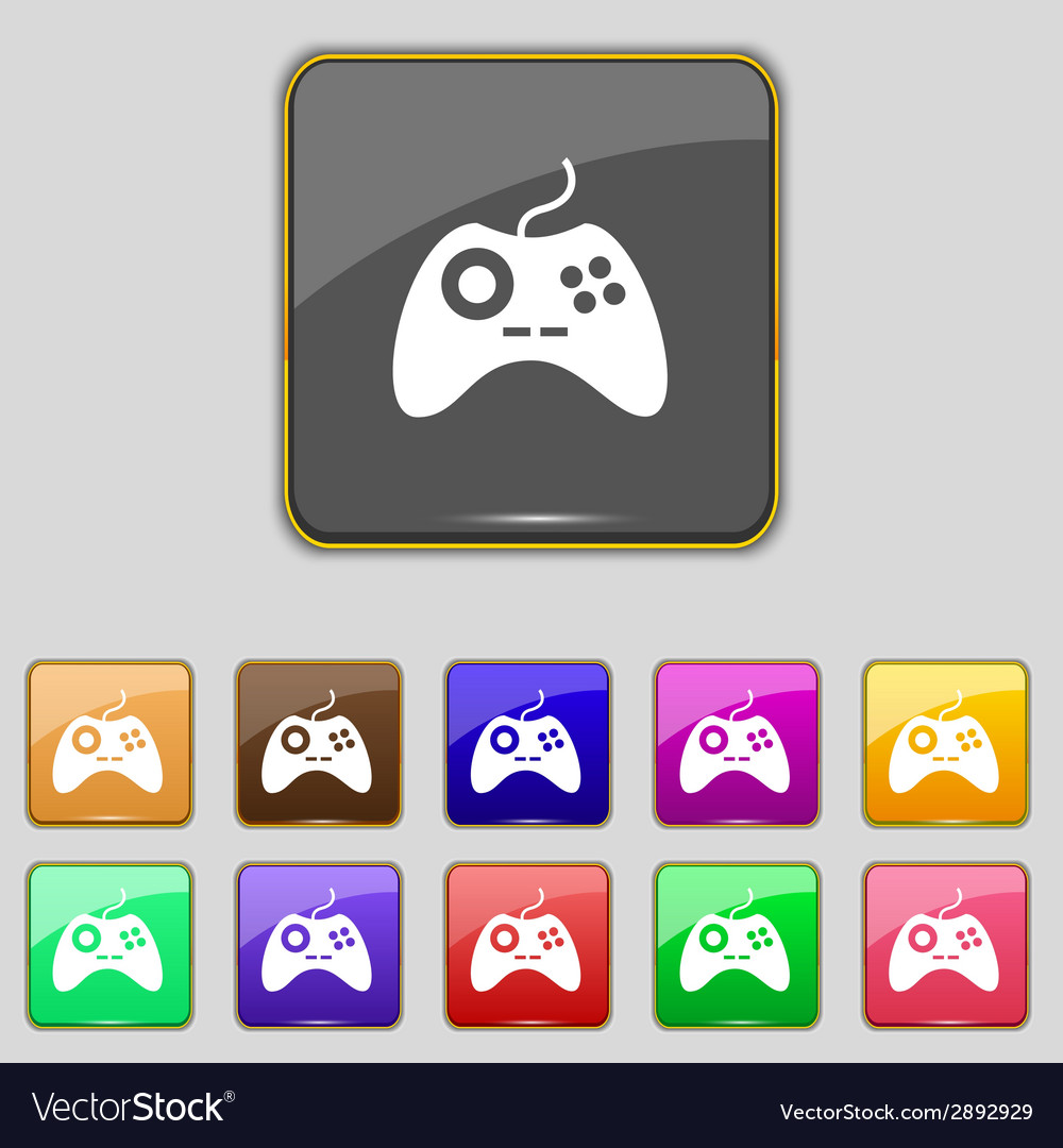 Joystick sign icon video game symbol set colourful vector   Price: 1 Credit (USD $1)